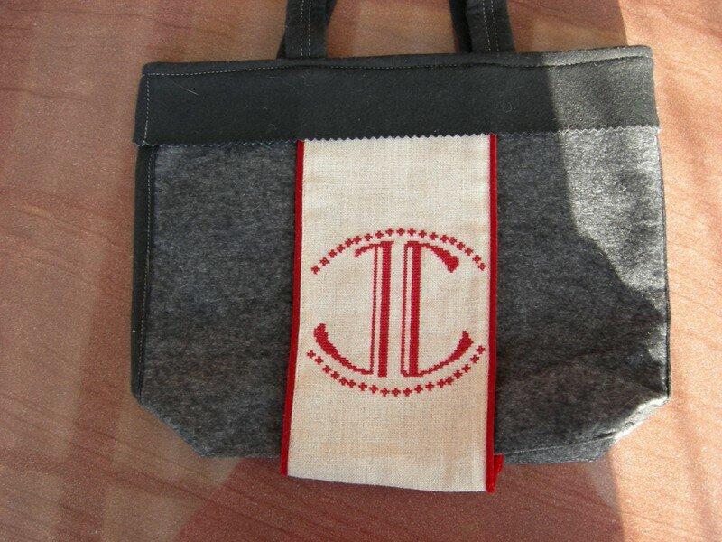 2e coté sac -mes initiales-