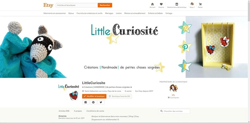 Etsy - Little Curiosité 2017