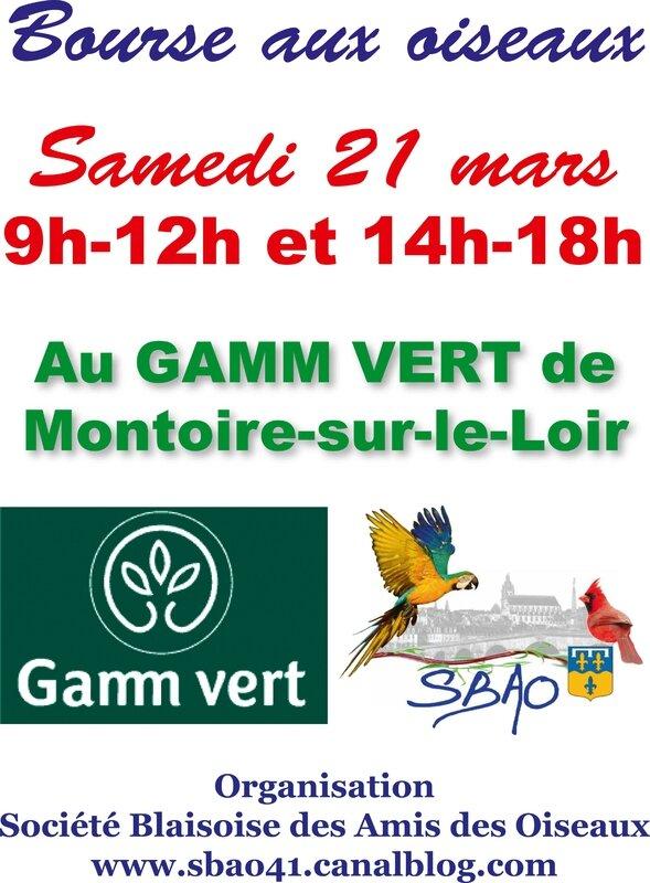 bourse sbao gamm vert Montoire