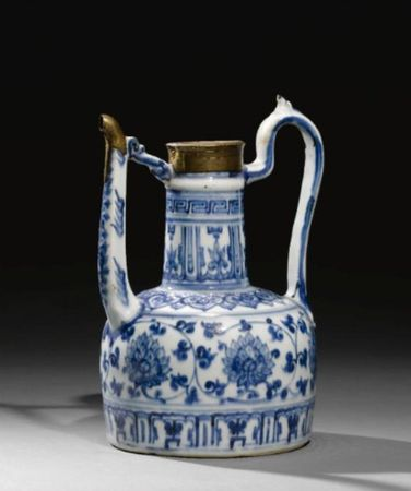 A_JIAJING_BLUE_AND_WHITE_PORCELAIN_EWER_MADE_FOR_THE_ISLAMIC