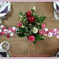 Table confetti rose et prune