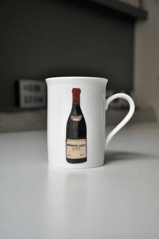 bouteille vin mug