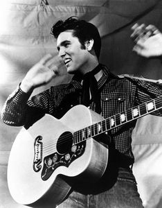 Elvis & his guitar 1955