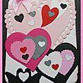 FEVRIER - ST VALENTIN ET combo couleurs gris noir et blanc rose pointe de rouge