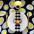 Diy déco de pâques : les sets de table oeufs au plat