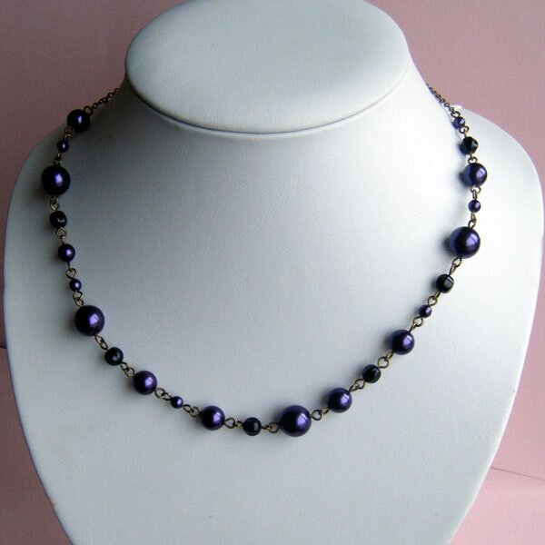 Collier violet / Necklace purple