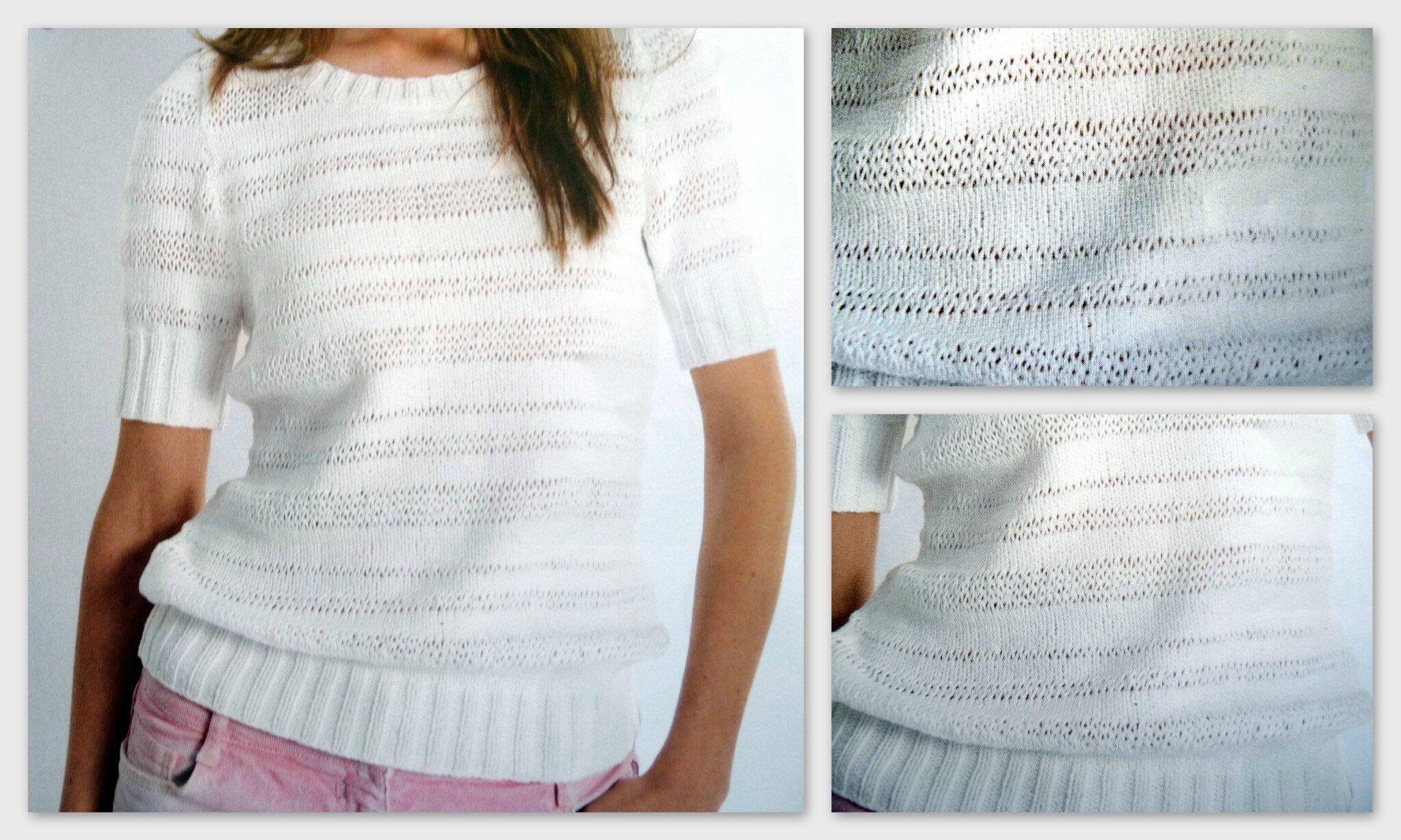 Un pull printanier pour femme manches courtes