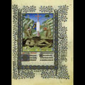 Limbough Brothers (Netherlandish, active 1400-1416), A Cemetery, 1405-1408/1409