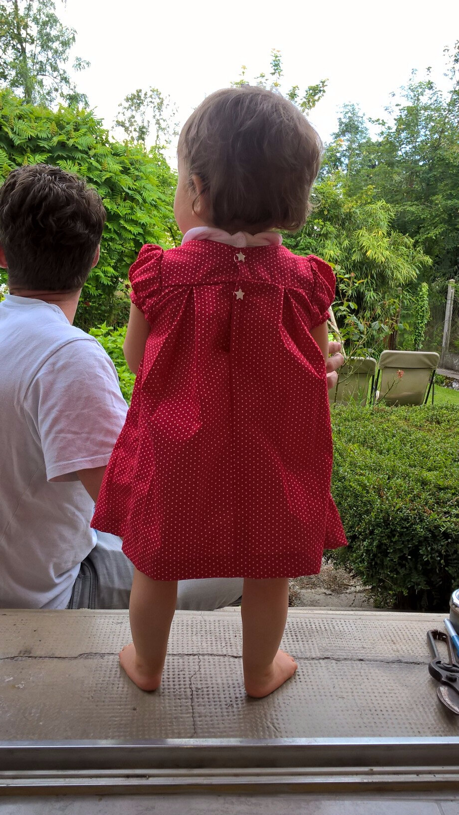 "Test smocks "" une petite robe rouge"""