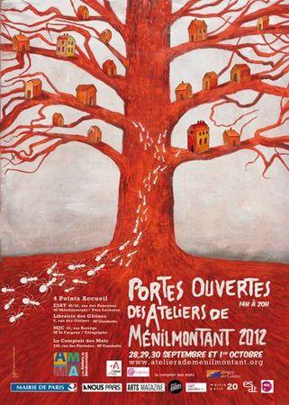 Portes ouvertes ateliers d'artistes - Menilmontant - 2012