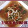 Soupe de pâtes et lentilles vertes - yeşil mercimekli erişte çorbası