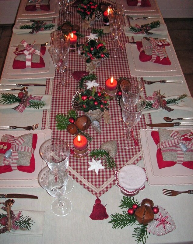 No l au chalet 058 modifi 1 photo de table no l la - Deco tables de noel ...