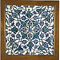 A damascus pottery tile, syria, late 16th-early 17th century