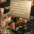 La plaque du lieutenant Loridan