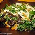 Lasagnes d'escargots au coulis de persil