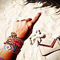 Le glamour chic de l'accessoire ethnique le plus tendance, les bracelets hipanema en vente chez punka à aix-en-provence