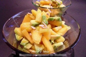 salade de melon avocat recettes voyageuses de barbara. Black Bedroom Furniture Sets. Home Design Ideas