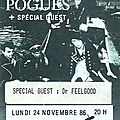 The Pogues - Lundi 24 Novembre 1986 - Zénith (Paris)