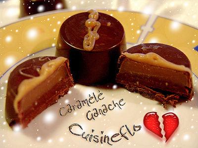 Chocolat maison Caramélé et ganache de Cuisineflo