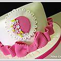Gâteau anniversaire enfants nîmes - blanc et rose