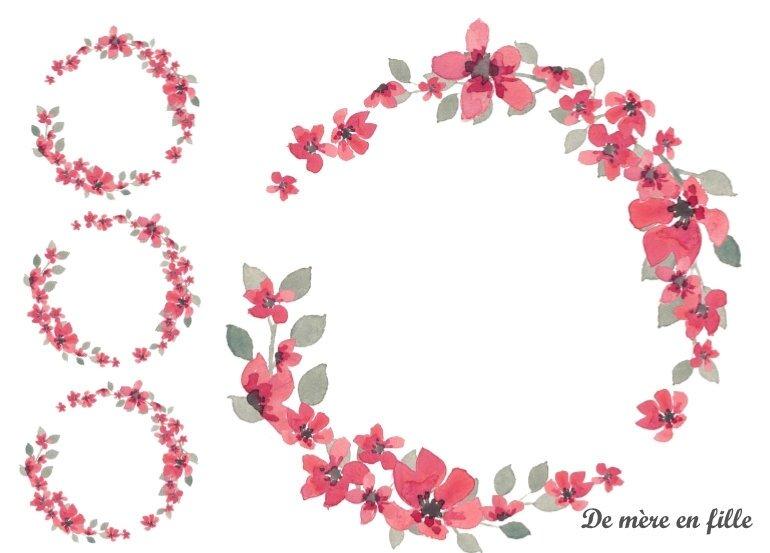 couronne fleurs japonaises