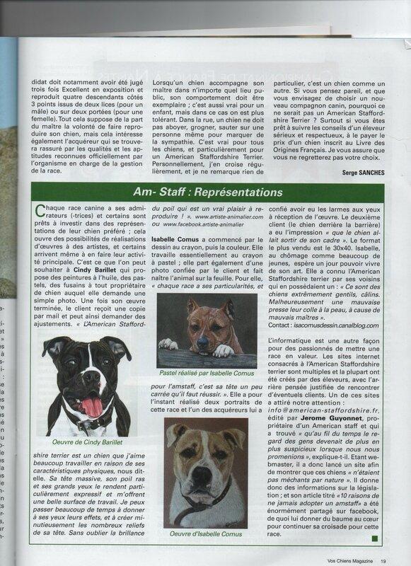 Article Vos Chiens Magazine juillet/août 2017