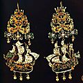 Sailing ship earrings & pendants, 16th-17th century