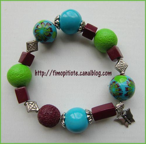 Bijoux pate fimo collier bracelet boucles d oreilles (21)
