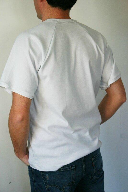 tshirt blanc bleu LMV5