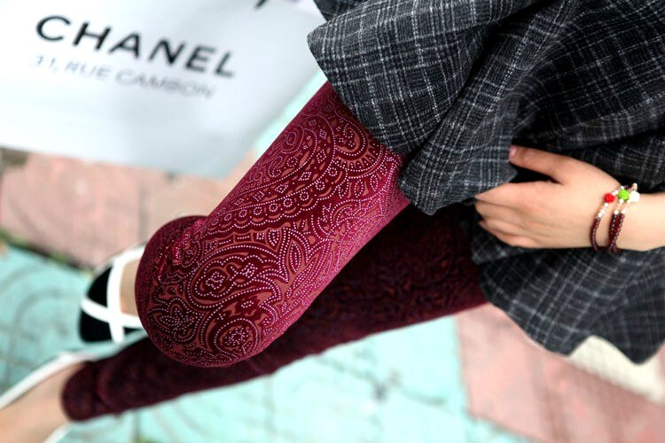 Leggings Velour Rouge Baroque