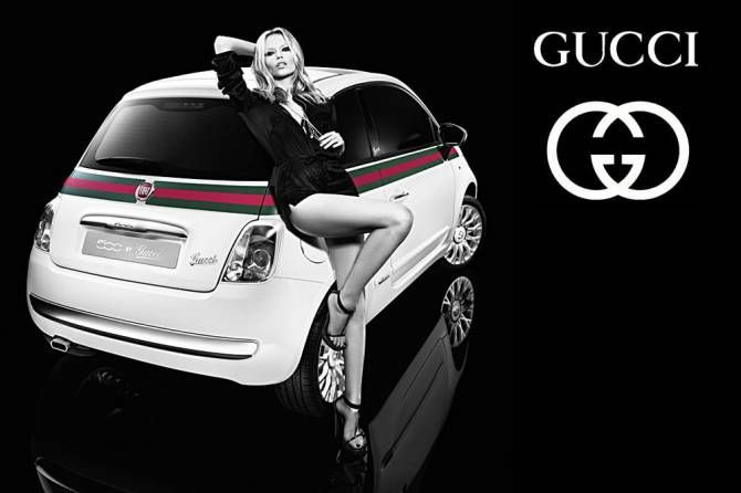 nouvelle campagne de pub fiat 500 gucci vie de m dias. Black Bedroom Furniture Sets. Home Design Ideas