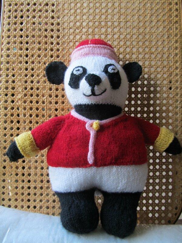 Un panda pour fêter la naissance du petit-fils d'une amie en même temps que l'arrivée des pandas à Parai Daiza