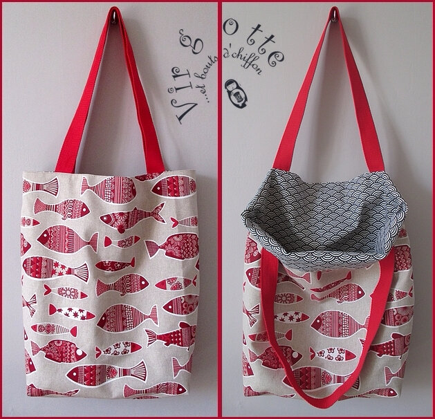 Tote bag Sardine rouge