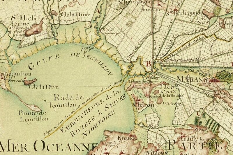 1750 carte de Masse en couleur