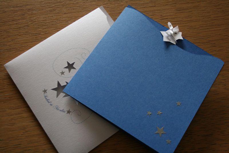 Exceptionnel Faire-part de mariage constellations - Une Pointe d'épices CF55