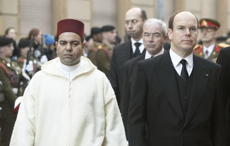 HRH Prince Moulay Rachid and Prince Albert of Monaco, Luxembourg, 15/01/05