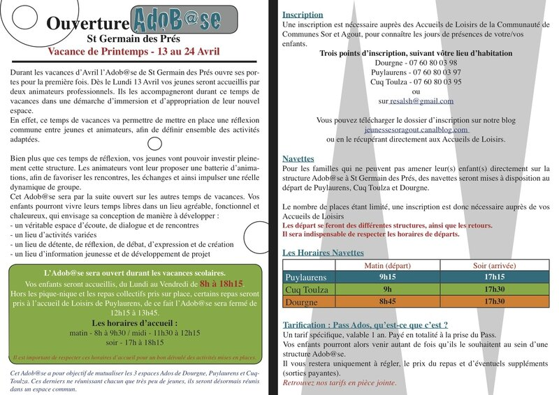courrier info ouverture adobase
