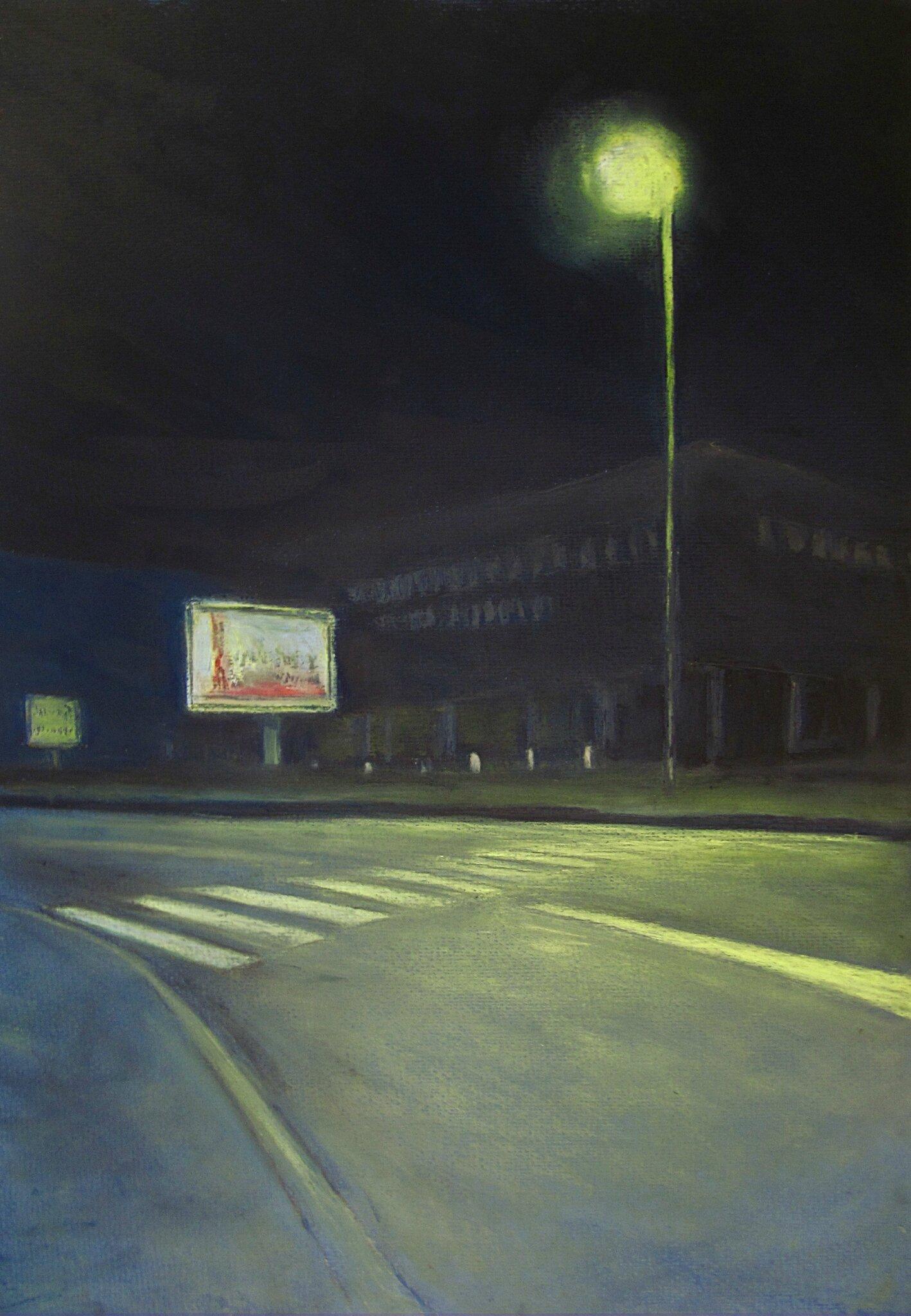K'nowhere #14, pastel à l'huile sur papier, 38 x 48 cm