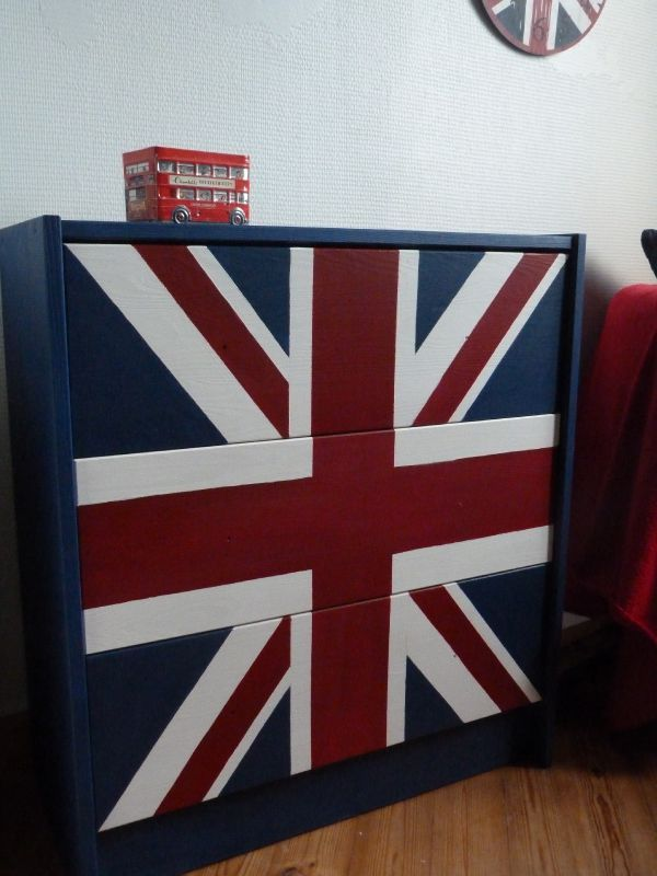 D coration chambre drapeau anglais for Decoration theme angleterre