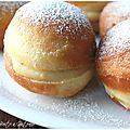 Les boules de berlin à la crème pâtissière