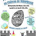 Fête des enfants le we de pâques au château de miromesnil !