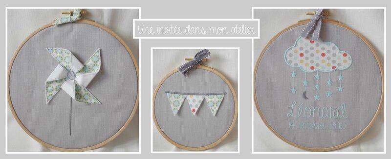 trilogie de cadres-décoration de chambre bébé-décoration bébé personnalisée