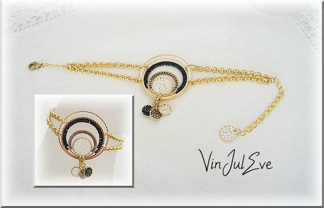 bracelet Galatsi noir bronze blanc or