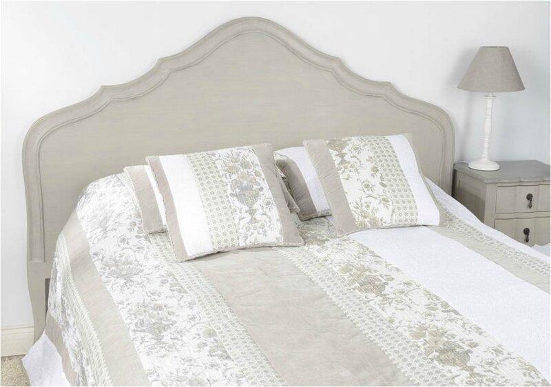 tete de lit taupe grisée amadeus