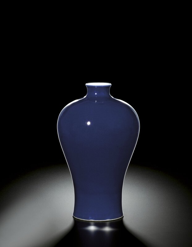A fine blue-glazed meiping, mark and period of Yongzheng (1723-1735)