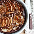 Gâteau choco-poire à la farine de châtaigne (sans plv, sans gluten)