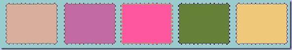 Palette timbres sur bon fond turquoise