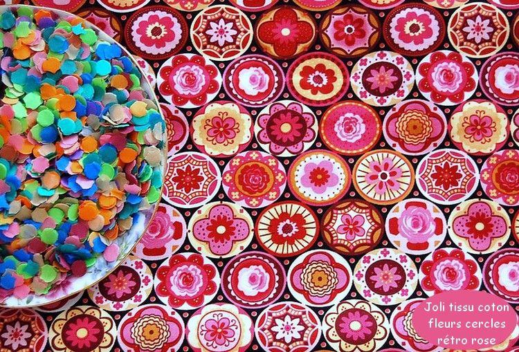 03_Joli_tissu_coton_fleurs_cercles_r_tro_rose