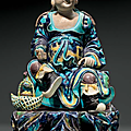 A Fahua-type figure of an Immortal, China, Qing dynasty, 18th-19th century