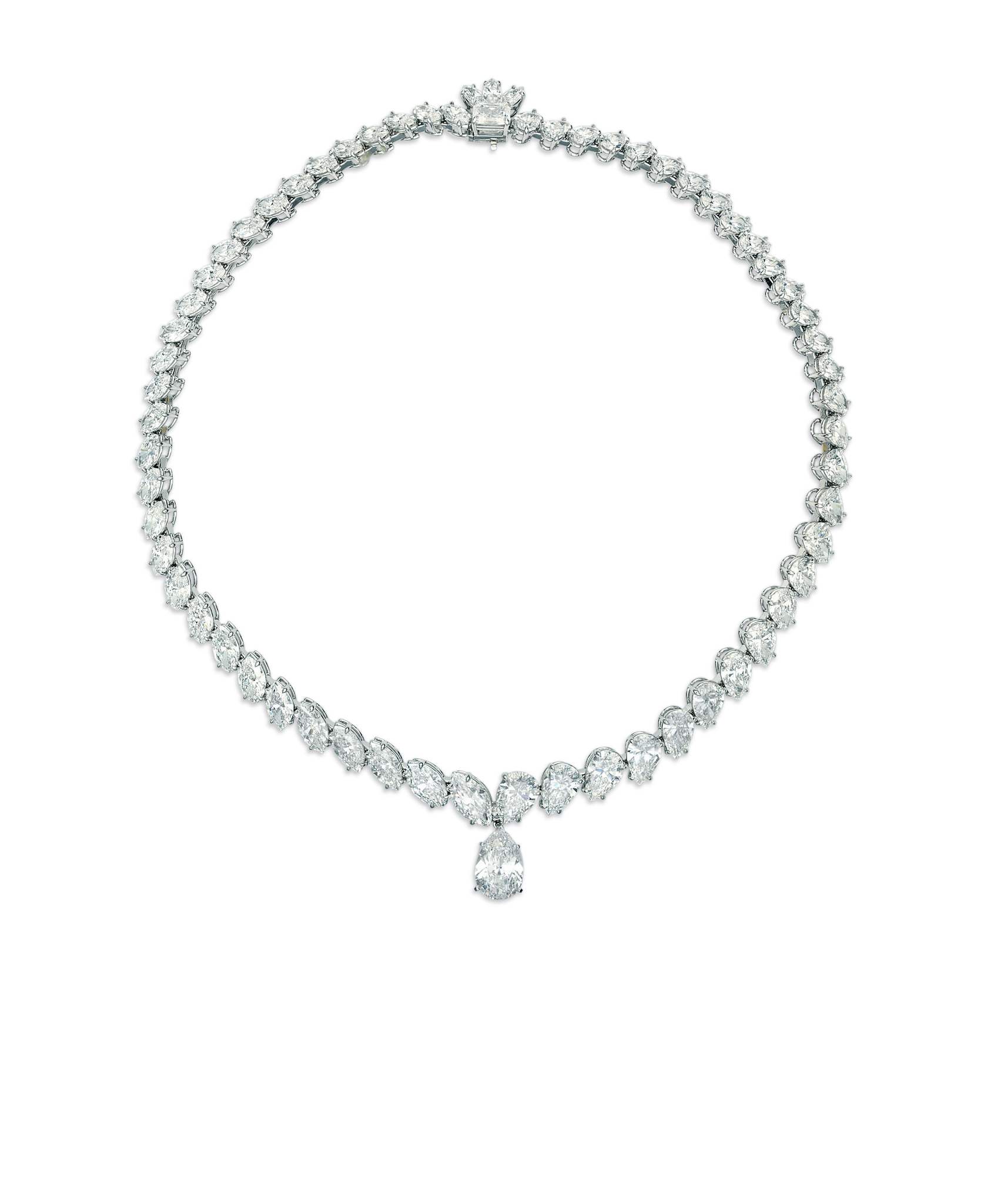 A diamond pendant necklace, by Tiffany & Co.